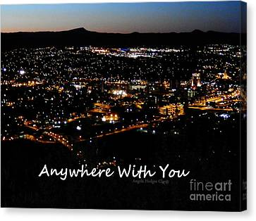Canvas Print featuring the digital art Anywhere With You by Angelia Hodges Clay