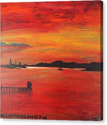 Aotearoa Canvas Print - Aotearoa Sunset 1 by Stacey Austin