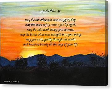 Apache Blessing-sunrise Canvas Print
