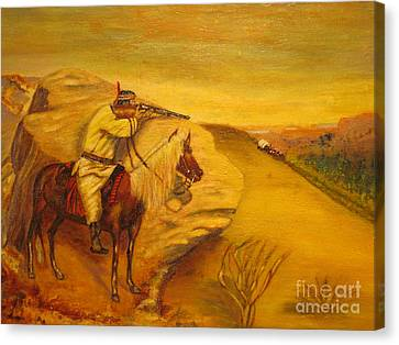 Apache  Canvas Print by Anthony Morretta