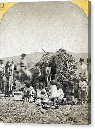 Apache Camp, C1873 Canvas Print by Granger