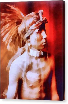 Apache Canvas Print by Dan Sproul