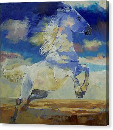 Apache Dreaming Canvas Print by Michael Creese