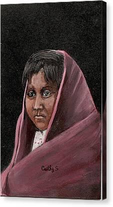 Apache Girl Canvas Print