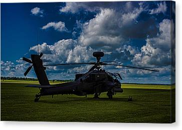 Apache Gun Ship Canvas Print by Martin Newman