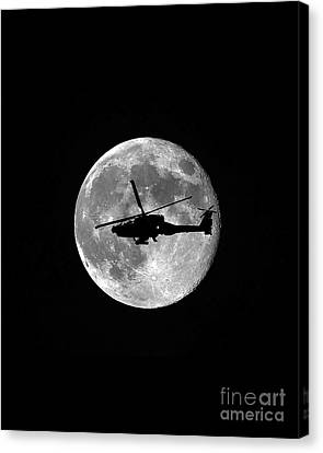 Apache Moon Vertical Canvas Print by Al Powell Photography USA