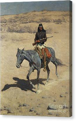The Horse Canvas Print - Apache Scout  by Frederic Remington
