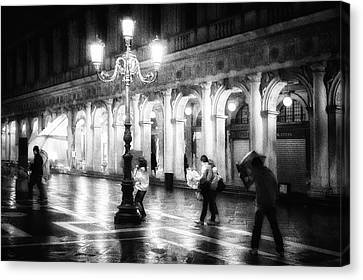 San Marco Canvas Print - Apart From Storm And Rain ... by Roswitha Schleicher-schwarz