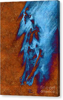 Canvas Print featuring the drawing Apart With Mood Texture by Paul Davenport