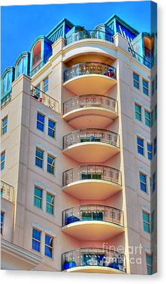 Apartment Building Canvas Print by Kathleen Struckle