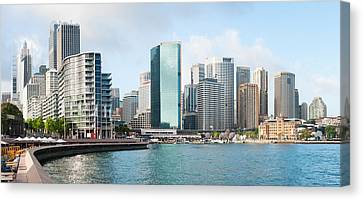 Apartment Buildings And Skyscrapers Canvas Print by Panoramic Images