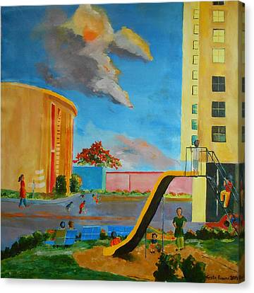 Apartment Living Canvas Print by Geeta Biswas