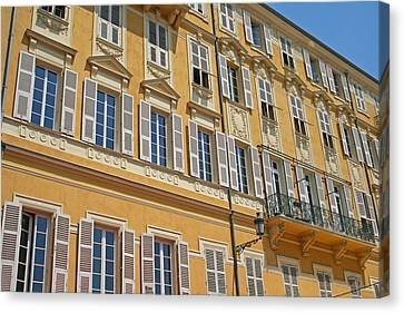 Cours Saleya Canvas Print - Apartments In Nice by Alan Kilpatrick