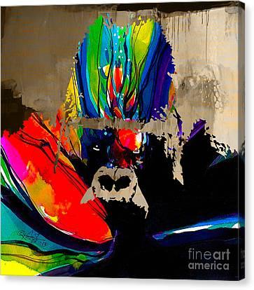 Ape Canvas Print by Marvin Blaine