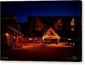 Canvas Print featuring the photograph Apex Mountain Ski Village by Guy Hoffman
