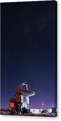 Apex Radio Telescope And Night Sky Canvas Print by Babak Tafreshi