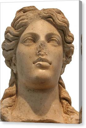 Aphrodite The Goddess Of Love And Beauty  Canvas Print by Tracey Harrington-Simpson