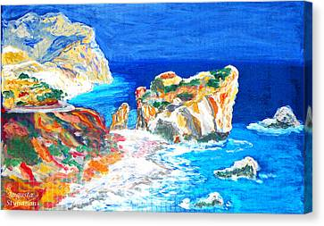 Petra Canvas Print - Aphrodite's Birth Place by Augusta Stylianou