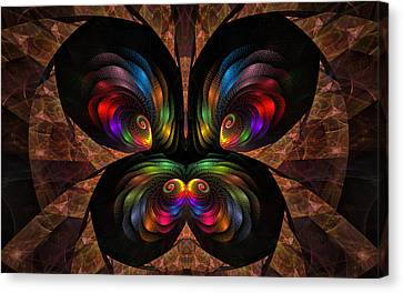 Canvas Print featuring the digital art Apo Butterfly by GJ Blackman