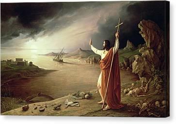 Apocalypse, 1831 Canvas Print by Ludwig Ferdinand Schnorr von Carolsfeld