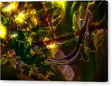 Canvas Print featuring the digital art Apocryphal - Tilting From Beastback by Richard Thomas
