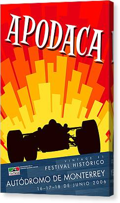 Apodaca Monterrey Historic Vintage Festival Canvas Print by Georgia Fowler
