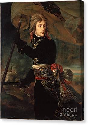 apoleon Bonaparte on the Bridge at Arcole Canvas Print by Celestial Images