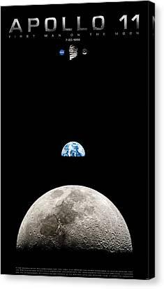 Apollo 11 First Man On The Moon Canvas Print