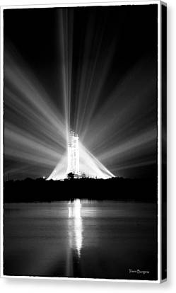 Canvas Print featuring the photograph Apollo 11 In The Spotlight by Travis Burgess