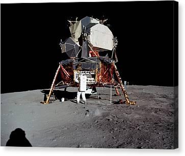 Apollo 11 Lunar Module Canvas Print by Nasa/detlev Van Ravenswaay