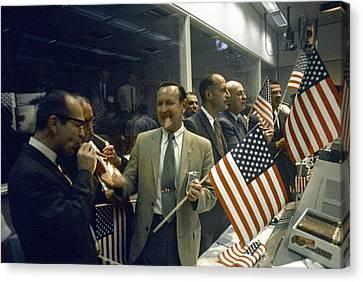 Apollo 11 Officials Celebrating, 1969 Canvas Print