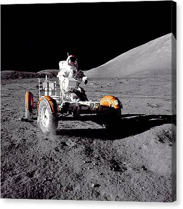 Apollo 17 Moon Rover Ride Canvas Print by Movie Poster Prints