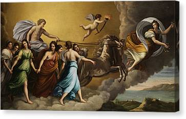 Apollo And The Muses Canvas Print by Italian painter
