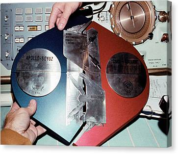 Apollo Soyuz Test Project Commemoration Canvas Print by Nasa