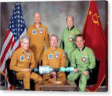 Apollo Soyuz Test Project Crew Canvas Print by Nasa