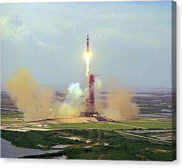 Apollo Soyuz Test Project Launch Canvas Print by Nasa