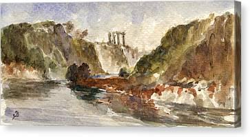 Apollo Temple Canvas Print
