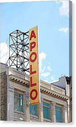 Apollo Theater Canvas Print - Apollo Theater Sign by Valentino Visentini