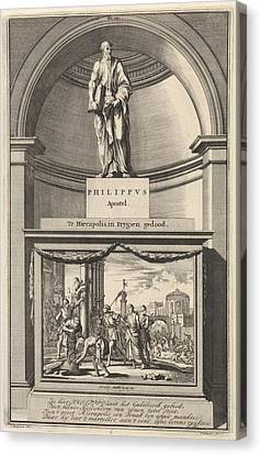 Apostle Philip, Jan Luyken, Zacharias Chatelain II Canvas Print by Jan Luyken And Zacharias Chatelain Ii And Francois Halma