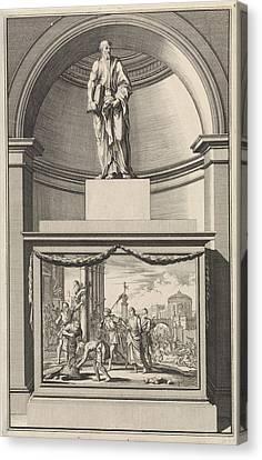 Apostle Philip, Jan Luyken, Zacharias Chatelain II Canvas Print by Jan Luyken And Zacharias Chatelain (ii) And Jan Goeree
