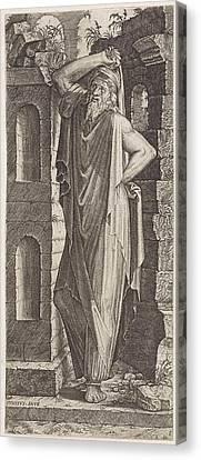 Apostle Philip, Lambertus Suavius Canvas Print by Lambertus Suavius