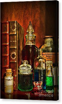 Apothecary - Vintage Jars And Potions Canvas Print by Paul Ward