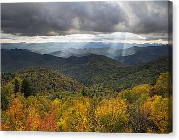 Appalachian Autumn North Carolina Fall Foliage Canvas Print by Dave Allen