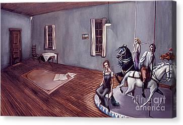 Appalachian Carousel Canvas Print by Jane Whiting Chrzanoska