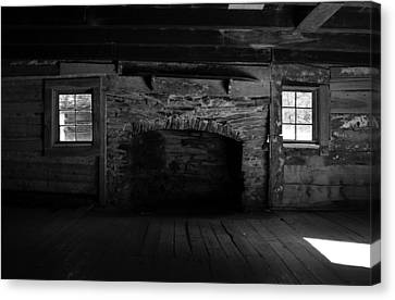 Appalachian Fireplace Canvas Print by David Lee Thompson