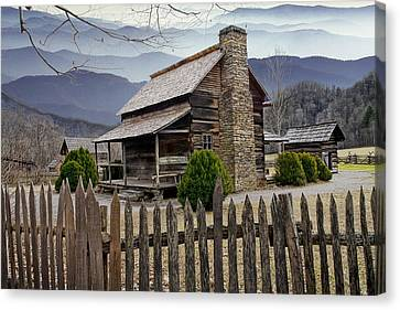 Log Cabin Canvas Print - Appalachian Mountain Cabin by Randall Nyhof