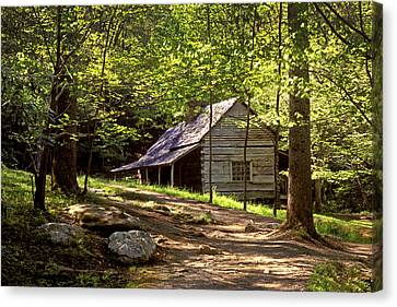 Appalachian Mountain Log Cabin Canvas Print by Paul W Faust -  Impressions of Light