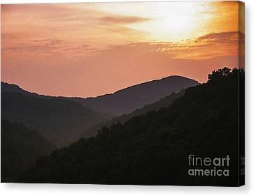 Appalachian Sunset Canvas Print by Thomas R Fletcher