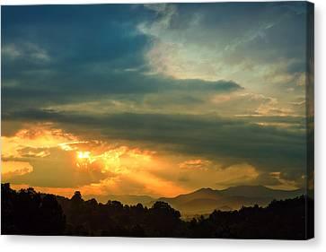 Appalachian Sunset Canvas Print by William Schmid