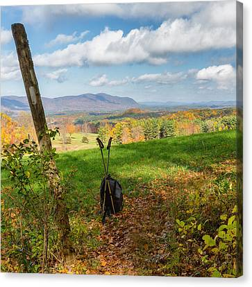 Appalachian Trail Hiker Square Canvas Print by Bill Wakeley